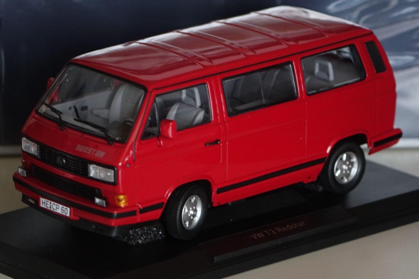 VW t3 bus rojostar rojo 1 18 NOREV 188542 NUOVO & OVP 1