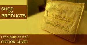 1 TOG 100% Cotton Filling Duvet / Quilt ONE- OF- A - KIND
