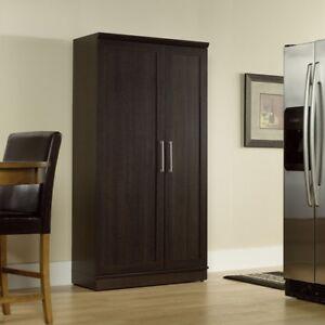 Image Is Loading Kitchen Pantry Cabinet Storage Organizer Cupboard  Tall Espresso