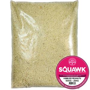 SQUAWK Kibbled Peanuts - Premium Grade Chopped Garden Wild Birds Nut Food Mix