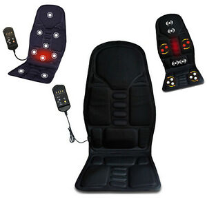 car massage heated seat cushion cover pain lumbar pad massager vibration ebay. Black Bedroom Furniture Sets. Home Design Ideas