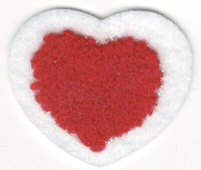 """1 1//2/"""" Valentine Love Red Chenille Heart Embroidery Patch"""