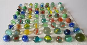 X72-Antique-Vintage-Retro-Glass-Marbles-15oz