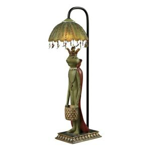 Sterling Industries 93-19334 King Frog With Basket Accent Lamp New!