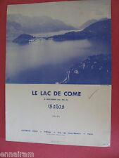 Le Lac de Come  Lake Como  Op 24 6 Nocturne by Galas rev. A Gregh 1958