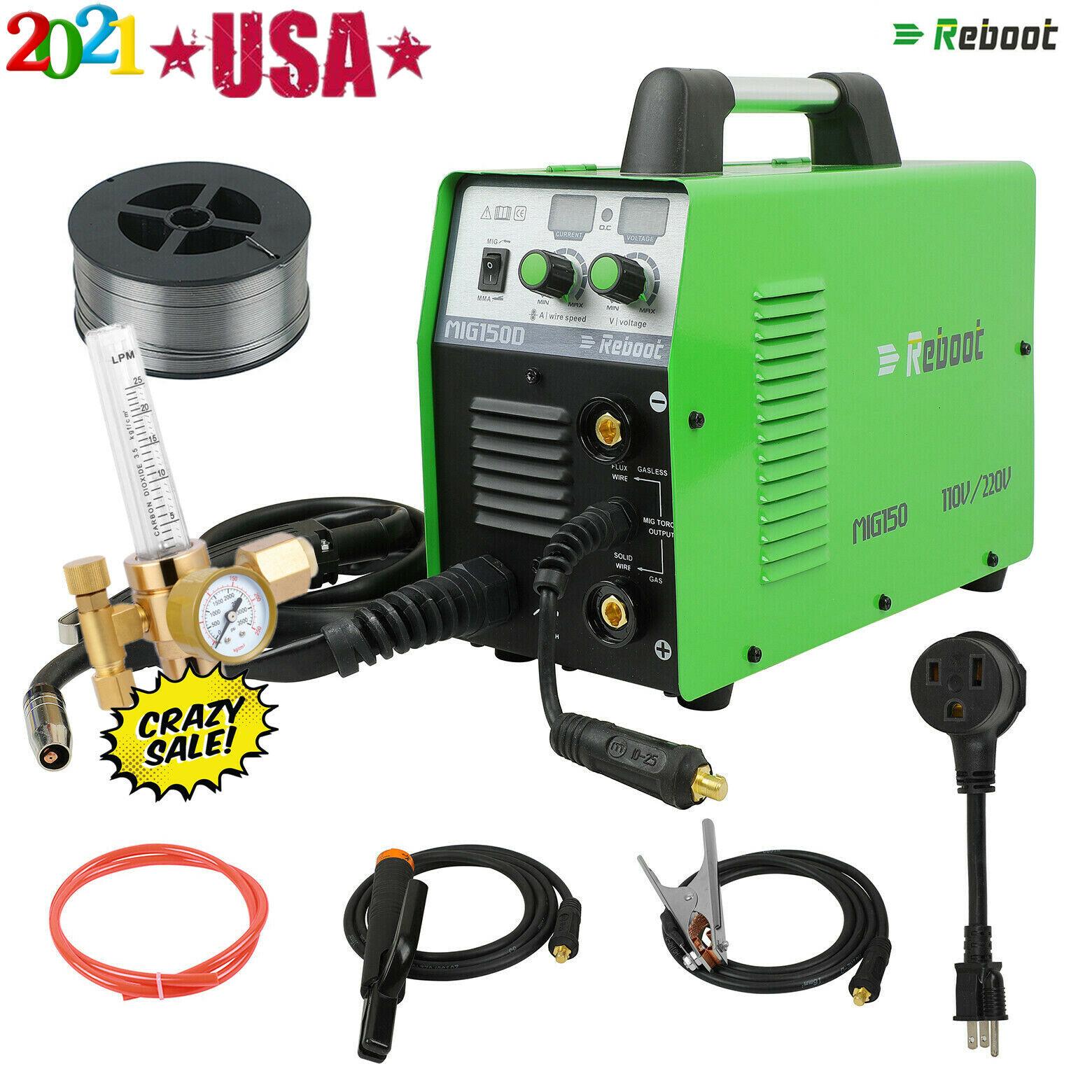 MIG Welder 150A Gas Gasless 110V 220V IGBT STICK ARC Machine + CO2 GAS Regulator. Buy it now for 288.99