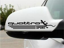 2x Audi Quattro gecko Aufkleber Der Türgriff Logo Simbol TT Q S RS TT Q S RS