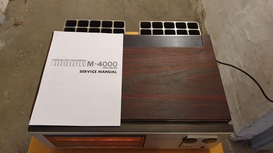 Effektforstærker, Luxman, M 4000