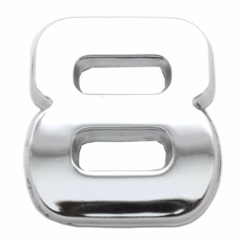 Chrome 3D Self Adhesive NUMBER 8 Car Badge Emblem Auto Home Sign Sticker Decal
