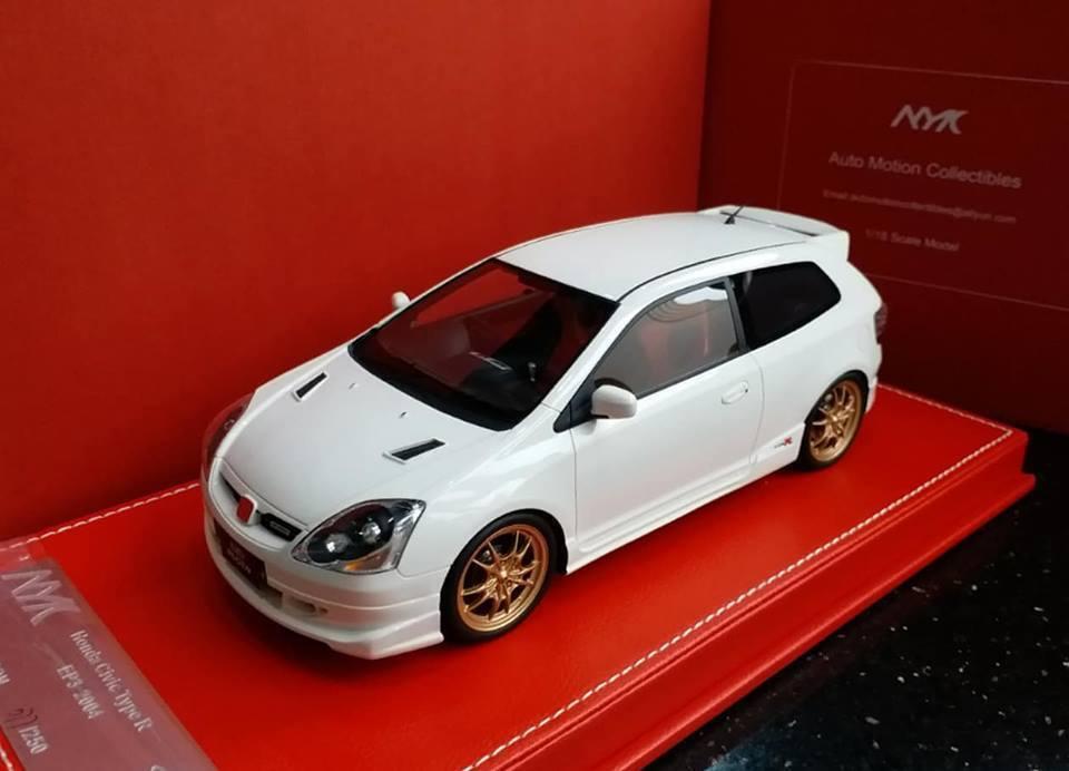 1 18 AMC Model Honda Civic Type R EP3 Mugen Championship White 2004-2005 NEW