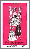 Vintage Barbie Teenage Fashion Doll Clothes Fabric Material Sewing Pattern 4592