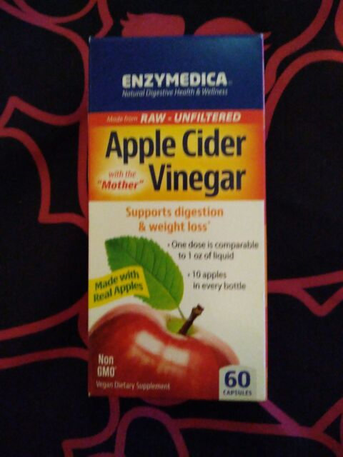 Enzymedica Apple Cider Vinegar Supports Digestion & Weight Loss 60 Capsules