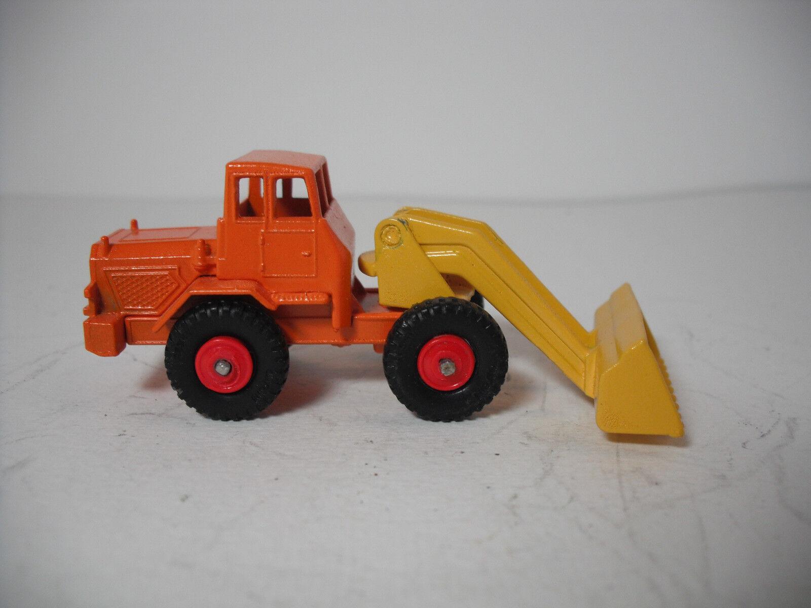 MATCHBOX LESNEY  69 restauré-Mod Orange HATRA tracteur jaune Pelle Avec rouge Wheels