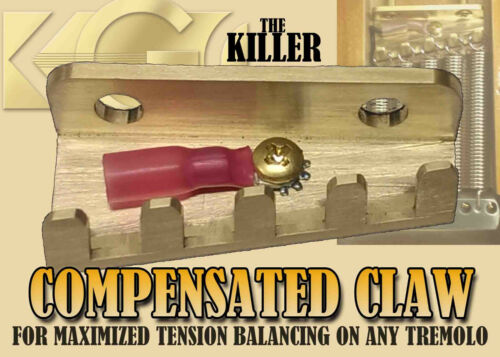 FITS FLOYD ROSE KILLER BRASS COMPENSATED TREMOLO SPRING CLAW STRAT