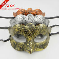 Silver Gold Roman Greek Men's Venetian Halloween Costume Party Masquerade Mask