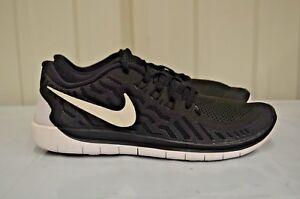 99bc6ffb66a9 Nike Free 5.0 (GS) Black White Dark Grey Cool Grey running kids ...