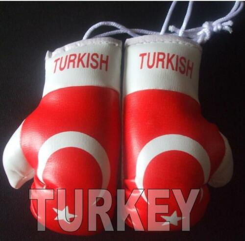 Turkey Flag/Turkish mini boxing gloves for your car-Get the best. Great  gift