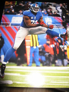 JUSTIN-TUCK-SIGNED-AUTOGRAPH-8x10-NEW-YORK-GIANTS-ACTION-SHOT-RARE-SUPERBOWL-G