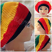 Afro Hat Beret Knit Slouchy Baggy Beanie Hats Jamaiga Rasta Head Winter Wear