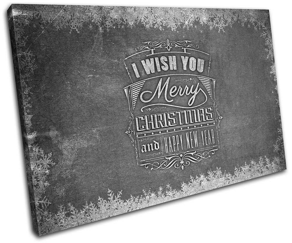 Christmas Decoration Wall Canvas ART Print XMAS Picture Gift Chalk 20  Christmas