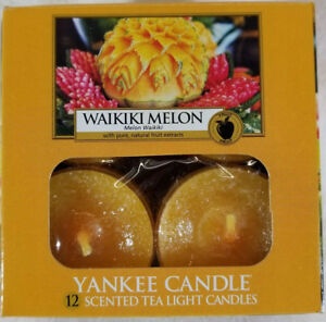 Yankee-Candle-WAIKIKI-MELON-Box-of-12-Scented-Tealights-Tea-Light-Orange