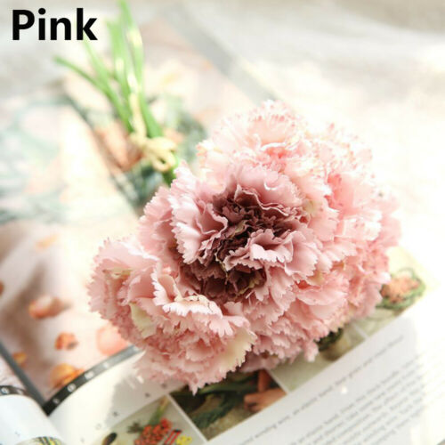 Artificial Silk Flowers Carnation Bunch Wedding Decoration Bridal Bouquet