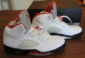 official photos 7aa17 391b0 Image is loading 2013-Nike-Air-Jordan-Retro-5-Fire-Red-