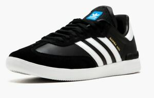 NEW-Men-adidas-Originals-SAMBA-ADV-SHOES-Black-White-Blue-Shoes-by3928-z1
