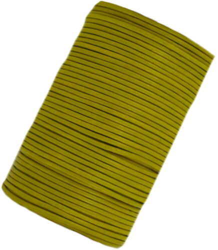 metres Yellow Leather cord laces 2 mm round sold in lengths of 2,3,4,5