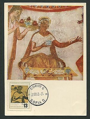 GroßZüGig Bulgarien Mk 1963 Thraker Gruft Tomb Malerei Maximumkarte Maximum Card Mc C9222 NüTzlich FüR äTherisches Medulla
