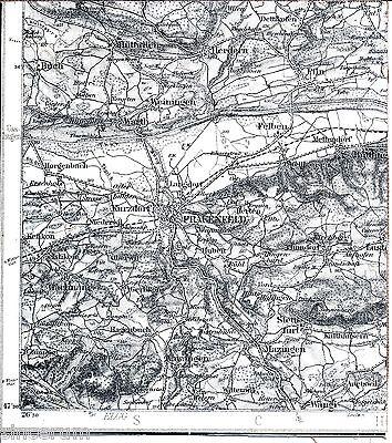 Frauenfeld Felben Weilhausen 1909 Teilkarte/ln. Matzingen Gachnang Aawangen Pfyn