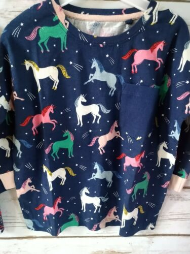 New Girl Boden Top 2-3-4-5-6-7-8-9-11 Year Colorful Unicorn 3//4 Sleeve Top Horse