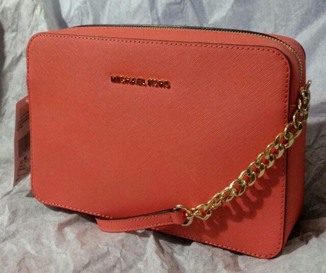 60d6c56047ad Michael Kors Jet Set LG EW Crossbody Leather Bag 32S4GTVC3L Pinkgrapfruit  NWT