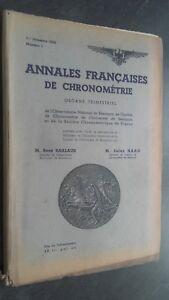 Folleto-Anales-Franceses-De-Chronometries-N-1-1E-Trim-1934-ABE