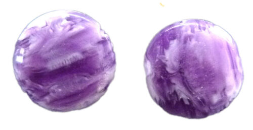 14mm Clip on and Magnetic Stud Marbled Dome Earrings Choice of 6 Colours