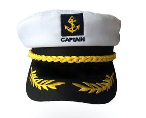 Newest Unisex Skipper Ship Sailor Hat Yacht Military Captain Cap Nautical Period