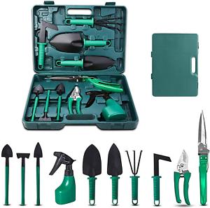 Upstartech Set Di Attrezzi Da Giardino, 10PCS Kit Di Attrezzi Da Giardinaggio Co
