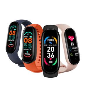 Bluetooth Smart Watch Fitness Tracker Sport Uhr Puls Armband Wasserdicht M6