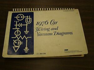 image is loading oem-ford-1976-wiring-diagram-book-mustang-ii-