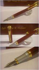 stilografica Fuliwen fountain Pen Red Lacquer Pump-Fill - Stylo Nib steel siz.