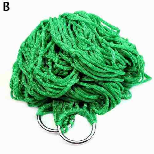Portable Garden Hammock Mesh Net Rope Travel Camping Bed Swing Red Outdoor Y1F8