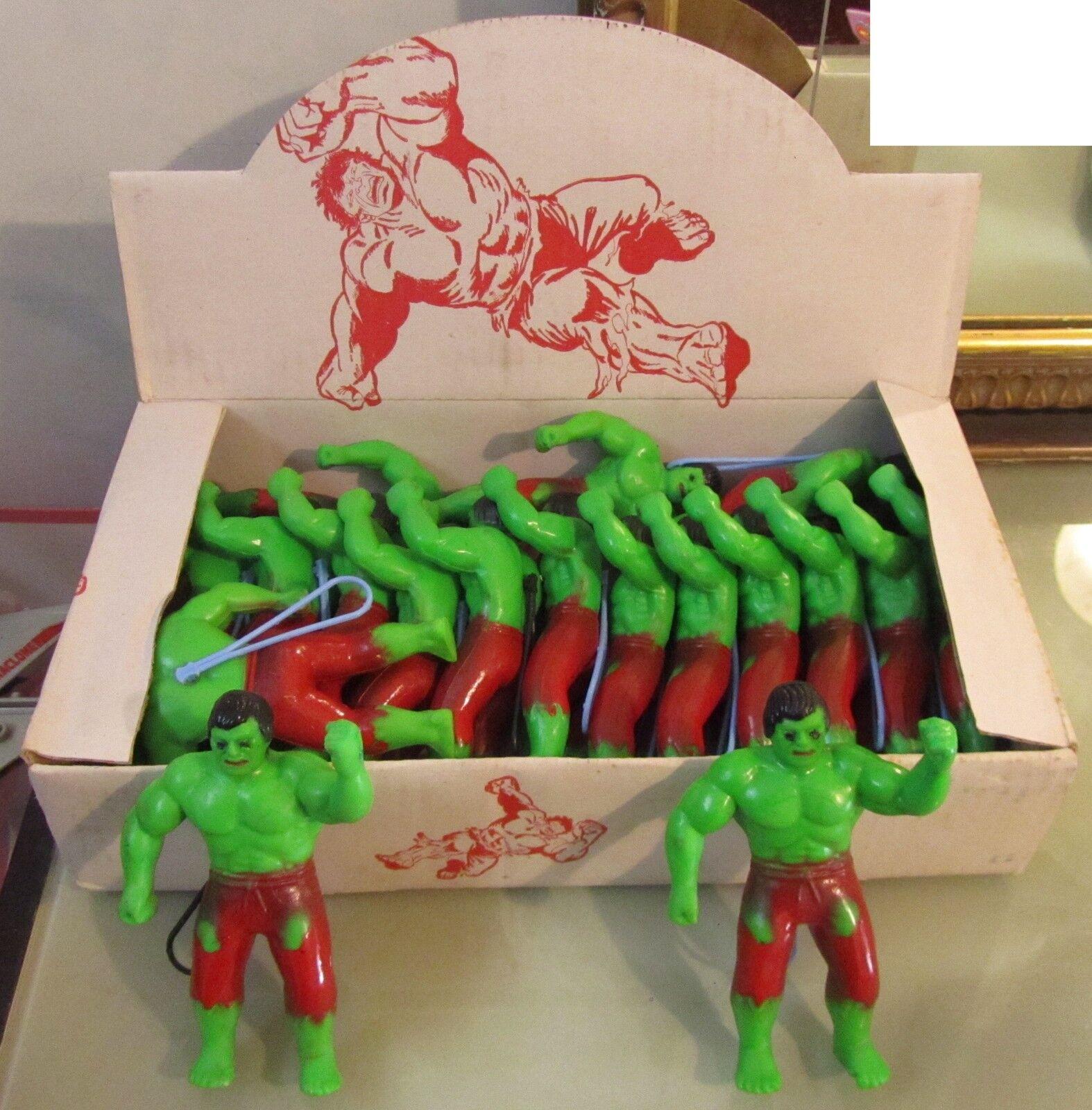 Espositore con 18 Hulk di gomma Fondo DI Magazzino nuovissimi anni 70