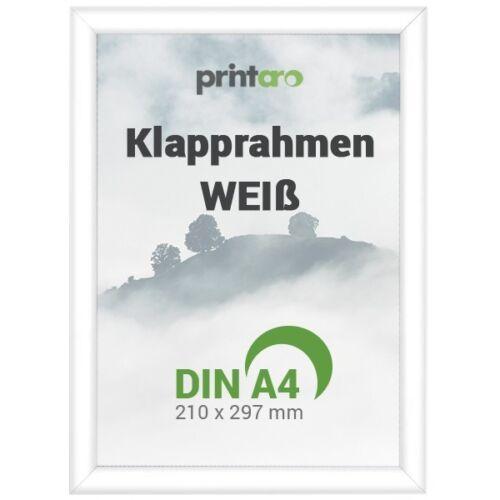1 x DIN A4 Alu-Klapprahmen Plakatrahmen in Weiß RAL9003