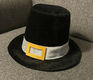 Pilgrim Hat Thanksgiving Adult Buckle Amish Colonial Quaker Puritan Salem Gift