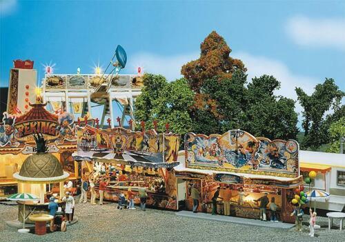 140446 FALLER H0 2 Kirmesbuden Rummelplatz Kirmes Jahrmarkt Rummelplatz NEU OVP