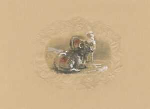 Edward Ford, Ewes Resting – Original mid-19th-century graphite drawing