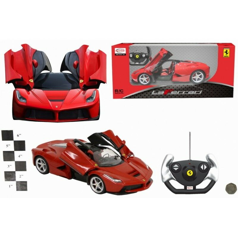 1 14 Scale Diecast Burago Ferrari LaFerrari Red Sports R C Car Remote Control
