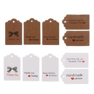 100PCS-Retro-Kraft-Paper-Gift-Cards-Handmade-Price-Tags-for-Wedding-Birthday