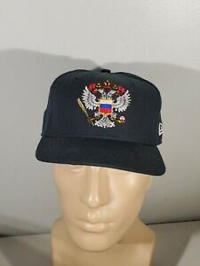 Vintage-Russian-National-Hockey-Team-Very-Rare-Russia-Hat-Cap-Olympic-New-Era