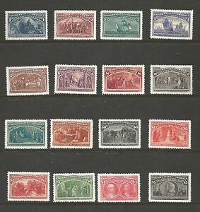 US. SCOTT ## 231-245. 1893 COLOMBIAN EXPOSITION ISSUES. MNH. EXCELLENT FORGERY